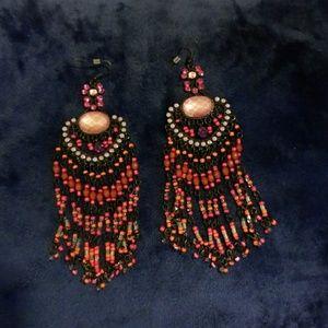 Bebe chandalier earrings